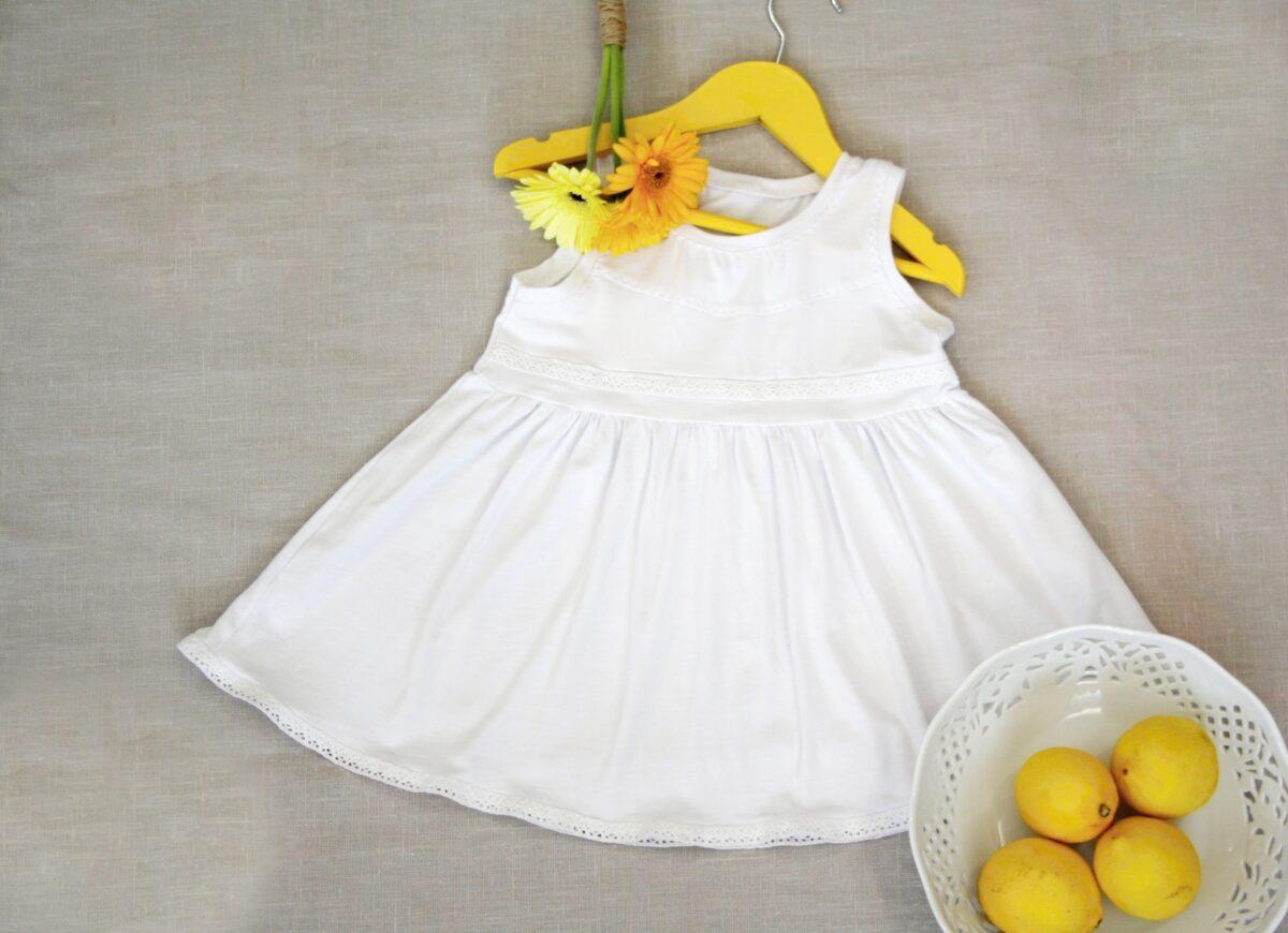 Letní šaty z modalu - bílé Riska (3)