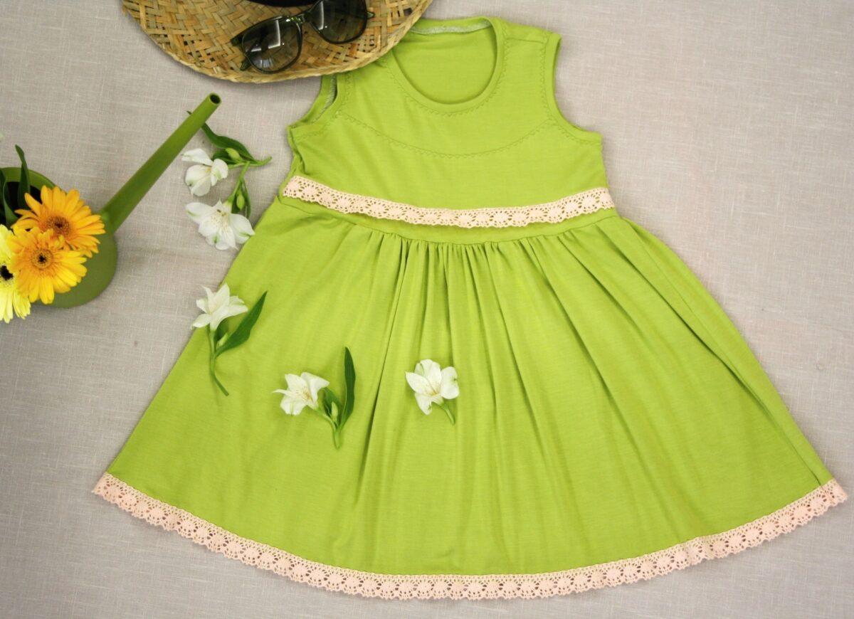 Letní šaty z modalu - zelené Riska (1)