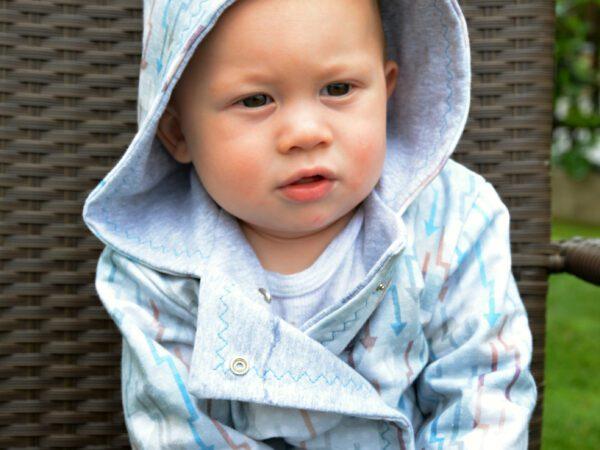 Oboustranný kabátek pro miminka - Riska (2)