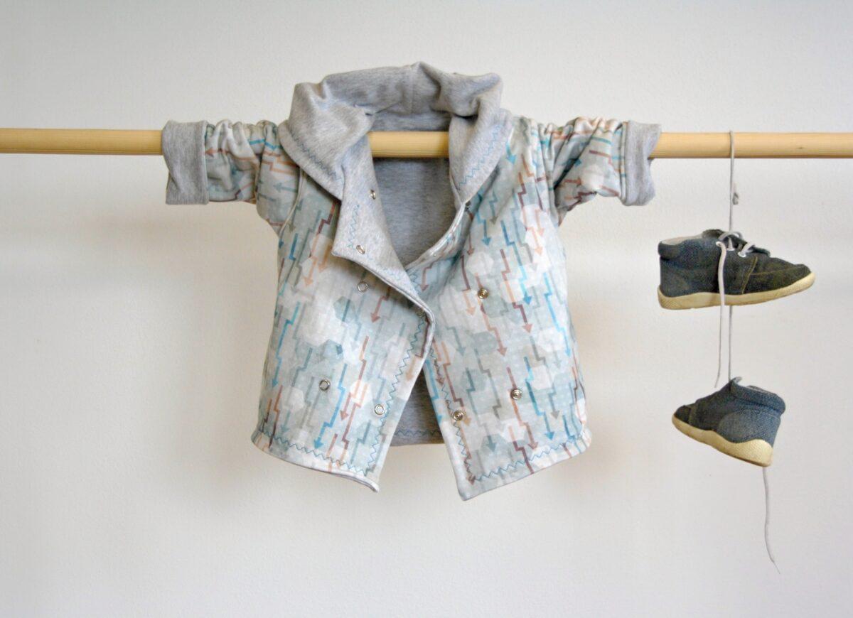Oboustranný kabátek pro miminka - Riska (3)