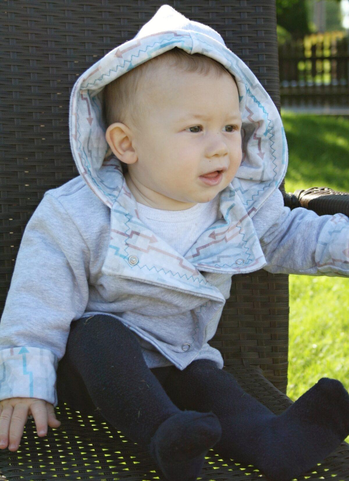 Oboustranný kabátek pro miminka - Riska (4)