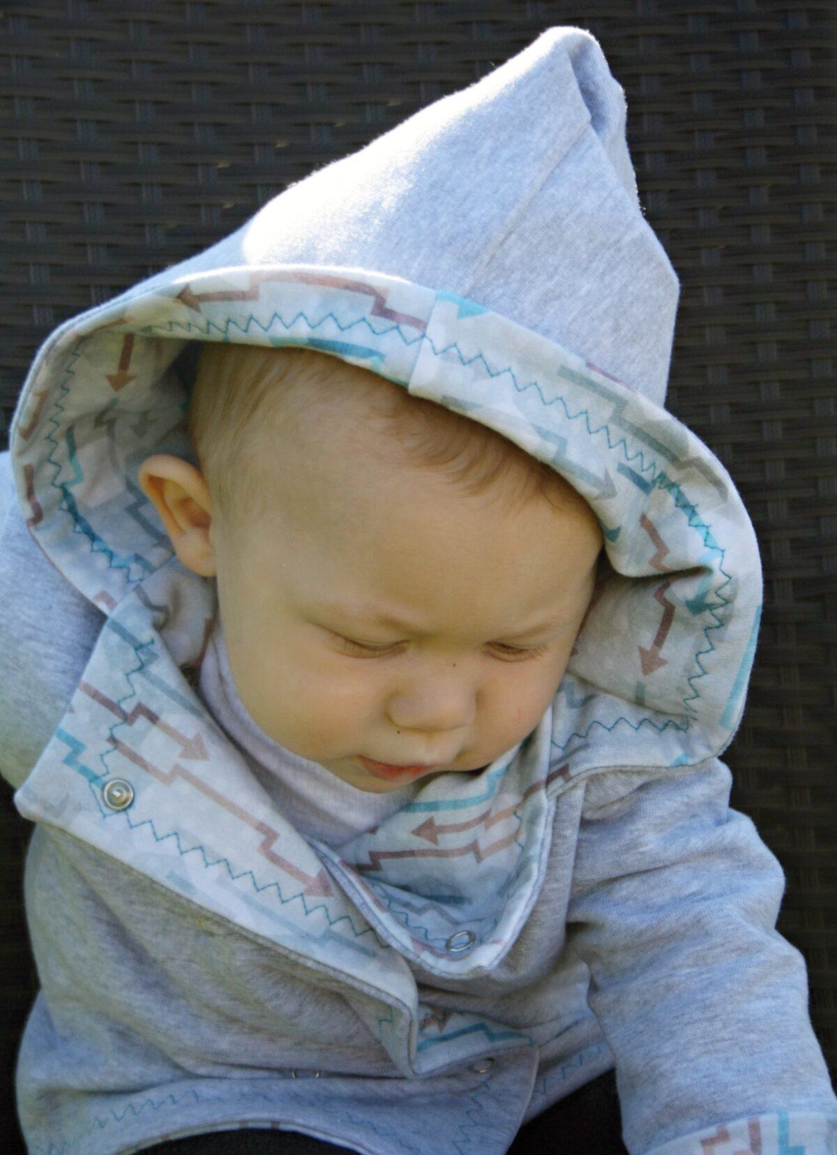 Oboustranný kabátek pro miminka - Riska (5)