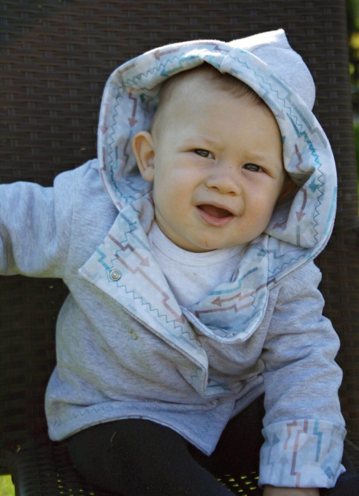 Oboustranný kabátek pro miminka - Riska (6)
