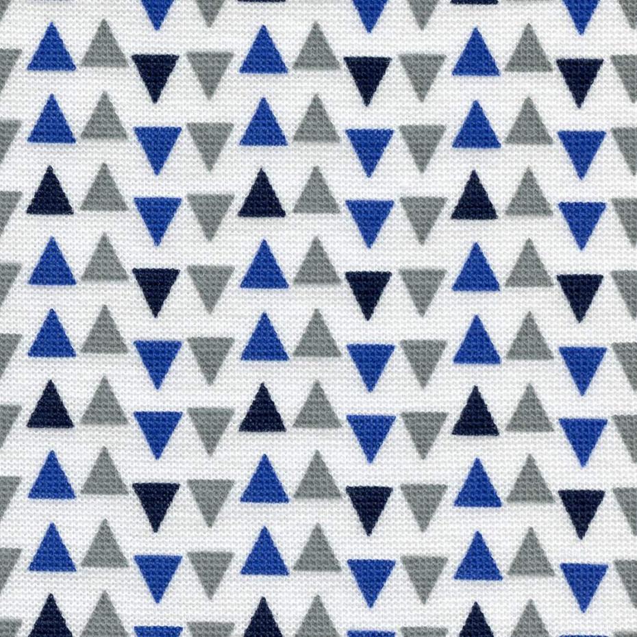Polodupačky bílé s modrými trojůhelníky Riska 2